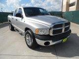 2004 Bright Silver Metallic Dodge Ram 1500 SLT Quad Cab #55365212