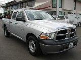 2010 Bright Silver Metallic Dodge Ram 1500 ST Quad Cab #55402503
