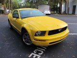 2005 Screaming Yellow Ford Mustang V6 Deluxe Coupe #55401957