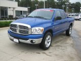2007 Electric Blue Pearl Dodge Ram 1500 Big Horn Edition Quad Cab #55402261