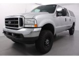 2002 Oxford White Ford F250 Super Duty XLT Crew Cab 4x4 #55401861