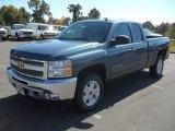 2012 Blue Granite Metallic Chevrolet Silverado 1500 LT Extended Cab 4x4 #55402384