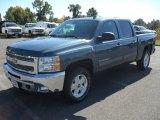 2012 Blue Granite Metallic Chevrolet Silverado 1500 LT Crew Cab 4x4 #55402381