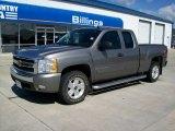 2008 Graystone Metallic Chevrolet Silverado 1500 LT Extended Cab 4x4 #55402332