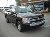 2008 Black Chevrolet Silverado 1500 LS Regular Cab 4x4 #55402125