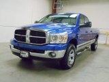 2007 Electric Blue Pearl Dodge Ram 1500 SLT Quad Cab 4x4 #55450671
