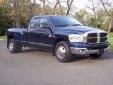 2007 Patriot Blue Pearl Dodge Ram 3500 SLT Quad Cab Dually #55450392