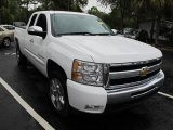 2009 Summit White Chevrolet Silverado 1500 LT Extended Cab #55450145