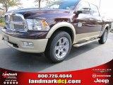 2012 Deep Molten Red Pearl Dodge Ram 1500 Laramie Longhorn Crew Cab #55487898
