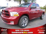 2012 Deep Cherry Red Crystal Pearl Dodge Ram 1500 Express Quad Cab #55487895