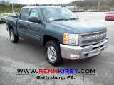 2012 Blue Granite Metallic Chevrolet Silverado 1500 LT Crew Cab 4x4 #55488159