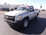 2008 Silver Birch Metallic Chevrolet Silverado 1500 Work Truck Regular Cab #55488086