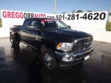 2010 Brilliant Black Crystal Pearl Dodge Ram 3500 Big Horn Edition Crew Cab 4x4 Dually #55488072