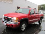 2005 Fire Red GMC Sierra 1500 SLE Extended Cab 4x4 #55488356