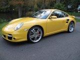2007 Speed Yellow Porsche 911 Turbo Coupe #55487743