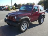 2012 Deep Cherry Red Crystal Pearl Jeep Wrangler Sport S 4x4 #55488304