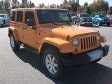 2012 Jeep Wrangler Unlimited Dozer Yellow