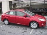 2012 Red Candy Metallic Ford Focus SE Sedan #55488210