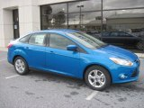 2012 Blue Candy Metallic Ford Focus SE Sport Sedan #55488201