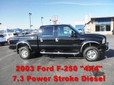 2003 Black Ford F250 Super Duty XLT Crew Cab 4x4 #55537649
