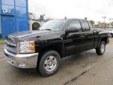 2012 Black Chevrolet Silverado 1500 LT Extended Cab 4x4 #55537047