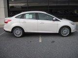 2012 White Platinum Tricoat Metallic Ford Focus SEL Sedan #55537423