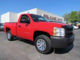 2008 Victory Red Chevrolet Silverado 1500 Work Truck Regular Cab #55537404