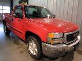 2005 Fire Red GMC Sierra 1500 Regular Cab 4x4 #55537388