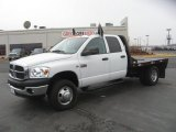 2008 Bright White Dodge Ram 3500 SLT Quad Cab 4x4 Chassis #55593040