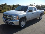 2012 Silver Ice Metallic Chevrolet Silverado 1500 LT Extended Cab 4x4 #55593118
