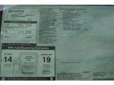 2012 Toyota Tundra CrewMax 4x4 Window Sticker