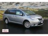 2012 Silver Sky Metallic Toyota Sienna XLE AWD #55592847