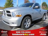 2012 Bright Silver Metallic Dodge Ram 1500 Express Regular Cab #55622022