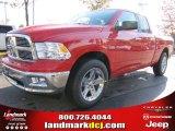 2012 Flame Red Dodge Ram 1500 Big Horn Quad Cab #55622018