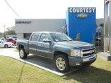 2011 Blue Granite Metallic Chevrolet Silverado 1500 LT Crew Cab #55622383