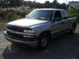 2000 Light Pewter Metallic Chevrolet Silverado 1500 Extended Cab #55621908