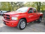 2005 Flame Red Dodge Ram 1500 SLT Quad Cab 4x4 #55622292