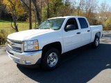 2012 Summit White Chevrolet Silverado 1500 LT Crew Cab #55622277