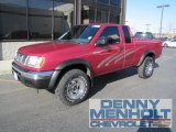 1998 Strawberry Red Pearl Nissan Frontier XE Extended Cab 4x4 #55658297