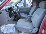 1998 Nissan Frontier XE Extended Cab 4x4 Gray Interior