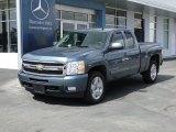 2009 Blue Granite Metallic Chevrolet Silverado 1500 LTZ Extended Cab 4x4 #55658481