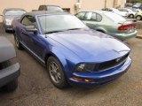 2005 Sonic Blue Metallic Ford Mustang V6 Premium Convertible #55657867
