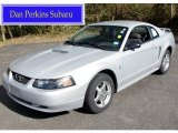 2002 Satin Silver Metallic Ford Mustang V6 Coupe #55657861