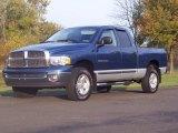 2002 Patriot Blue Pearlcoat Dodge Ram 1500 SLT Quad Cab 4x4 #55658146