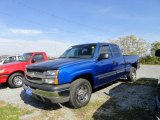 2004 Arrival Blue Metallic Chevrolet Silverado 1500 LS Extended Cab 4x4 #55709620