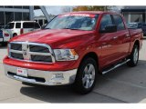 2012 Flame Red Dodge Ram 1500 Big Horn Crew Cab 4x4 #55709330