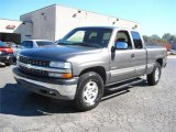 2001 Medium Charcoal Gray Metallic Chevrolet Silverado 1500 LS Extended Cab 4x4 #55709586