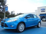 2012 Blue Candy Metallic Ford Focus SEL Sedan #55709046