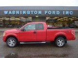 2010 Vermillion Red Ford F150 STX SuperCab 4x4 #55709291