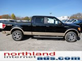 2011 Ebony Black Ford F150 Lariat SuperCrew 4x4 #55708982